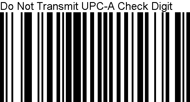 UPC-A Bar Code Needs to Have the Last Character Removed