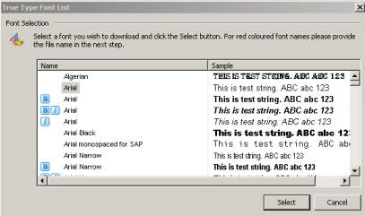Zebra Setup Utilities -- Downloading Fonts to a Printer