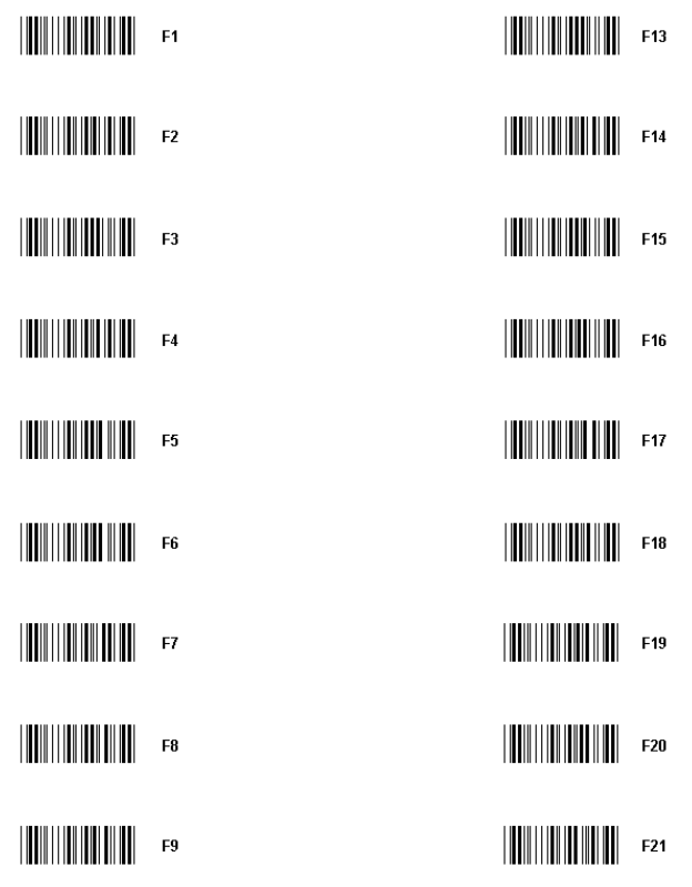 Function Key Barcodes For 5250 Emulation