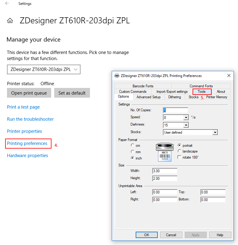 Sending ZPL Commands to a Printer