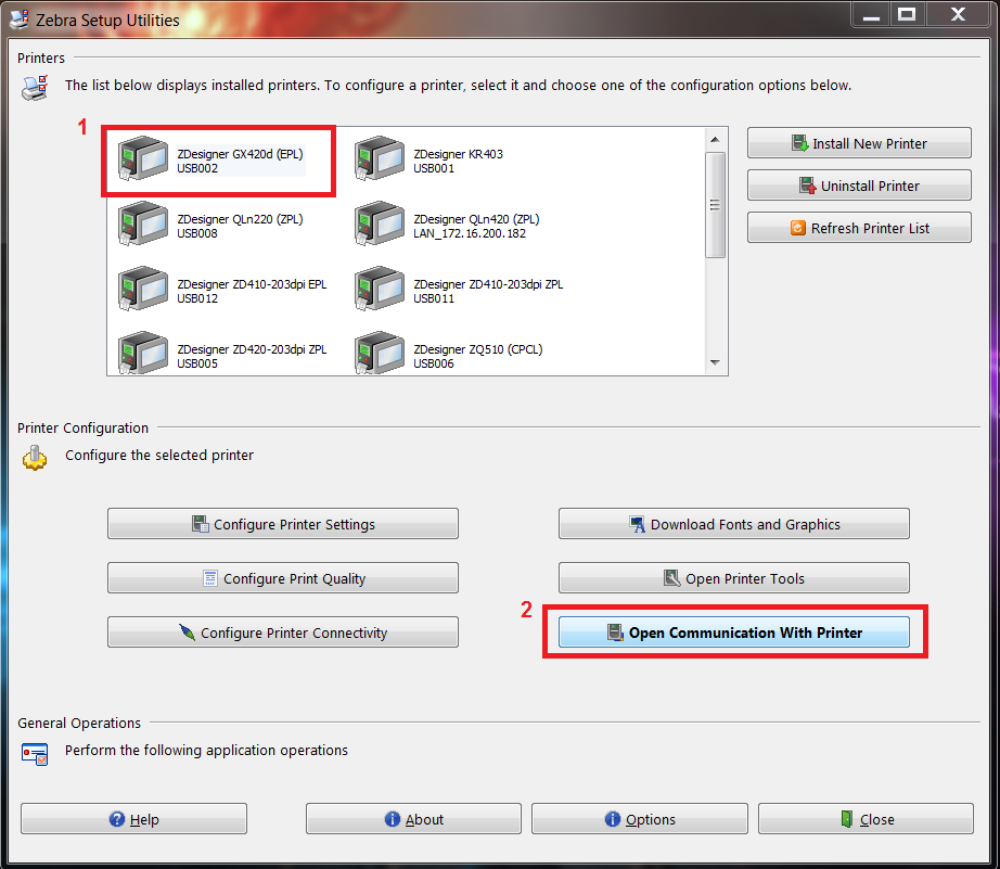 Change Printer Language And Driver To Zpl Or Epl